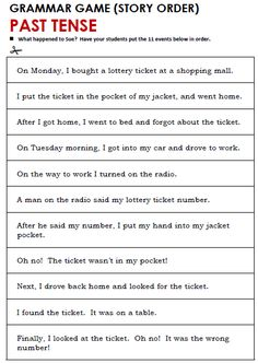 Quality ESL grammar worksheets, quizzes and games - from A to Z - for teachers & learners PAST SIMPLE All Tenses, Tenses Grammar, Grammar Quiz, Grammar Games, English Worksheets For Kids, Esl Lessons, English Lessons, Learn English, First Grade Worksheets