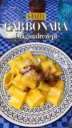Pasta Recipes, Dinner Recipes, Pasta Alla Carbonara, Coffee Shop Bar, Salty Foods, Soul Food, Bon Appetit, Italian Recipes, Cooking Tips