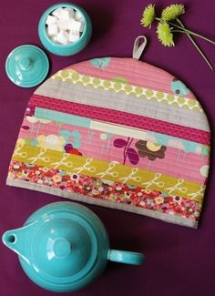 PDF Sewing Pattern Posy Cozies Patchwork Tea Cozy by retromama