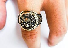 Pirate of the Caribbean Skull Ring - Pirate Ring - Skull Ring - Jack Sparrow Ring - Pirate Ship Ring - Pirate Skull Ring - Steampunk (Br-45) (9)