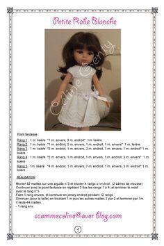 Une nouvelle robe pour Capucine! et ma première fiche... pour vous les filles, en remerciement de tous vos beaux modèles! C'est un mélange de plusieurs de vos idées! alors le partage s'impose! -Page 1 robe-blanche-page-1-1 -Page 2 robe-blanche-page-2-2...