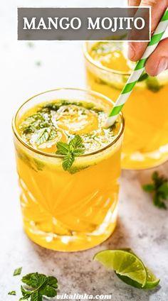 Pineapple Mojito, Mango Mojito, Mango Drinks, Blueberry Mojito, Strawberry Mojito, Summer Drinks, Fun Drinks, Beverages, Refreshing Drinks