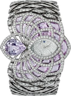Cartier Figurative High Jewelry Watch with purple sapphires and diamonds| World's Best