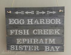 Beachy Farmhouse Pallet Sign - Dandelion Patina