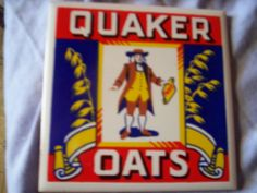Quaker Oats kitchen tile trivet 1982