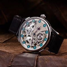 Skeletonized Omega Vintage wristwatch - made of swiss pocket watch – Patina Original Mens Skeleton Watch, Vintage Omega, Custom Leather, Watch Brands, You Bag, Pocket Watch, Watches, The Originals, Badass