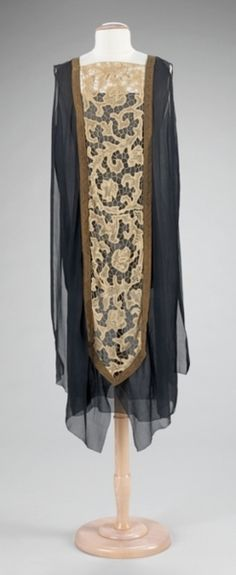 1925 c. over dress. I believe this was an afternoon dress for a fancy occasion. It was worn over a complimentary-colored slip.