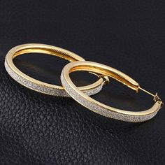 #Hoop #Earring, gold color plated.