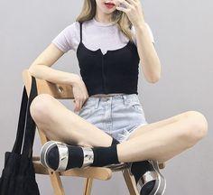 #korean, #summer, #fashion, #ootd...