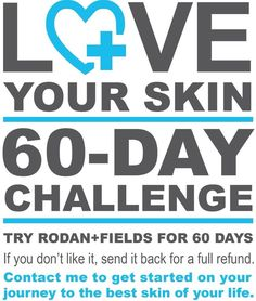 60 Day skincare challenge! Great skincare for everyone - use my solution tool to address your skincare needs & find the best products for you! Rodan & Fields - https://daviporter.myrandf.com