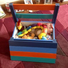 recycled pallet kids chair with storage