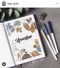November Bullet Journal Inspiration - Rae's Daily Page