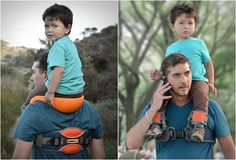 SADDLEBABY is a unique and simple product that enables parents to carry their children on their shoulders hands-free.