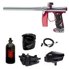 "WavetoGo Empire Invert Mini Silver Red Paintball Marker Remote Halo Too N2 combo by Empire. $474.90. Included 6 items in this package: 1. Invert Mini Electronic Paintball Marker - Silver/Red (Description: Multi-modes of operation (Semi-Auto/NPPL, Ramping/PSP & Full-Auto/NXL), .68 caliber, Up to 20 BPS Rate of Fire, Break beam anti-chop eyes, No hoses to crimp or break, Low pressure operation, Autococker barrel threads, Clamping feedneck, Easy ""tournament lockou..."