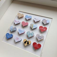 40th Wedding Anniversary gift // 16 hearts // personalised artwork