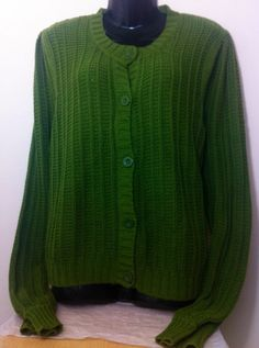 New - Womens Next Green Button Front Long Sleeve Cardigan Size 18 - £10.00