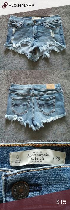 Abercrombie & Fitch Jean Shorts Size 0 * This is a gently used item.  * No Holds.  * No Trades.  * Offers Only Considered via the Offer Button. Abercrombie & Fitch Shorts Jean Shorts