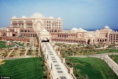 The seven star Emirates Palace hotel in Abu Dhabi,