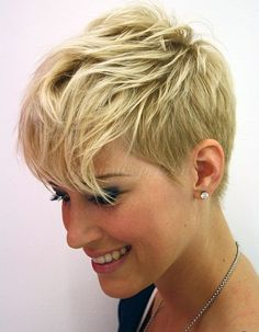 Very Short Haircuts for 2014 – Short Layered Hair – Hair Styles Short Thin Hair, Short Hair With Layers, Short Blonde, Short Cuts, Curly Short, Feminine Short Hair, Short Sides Long Top, Short Feminine Haircuts, Short Hair For Girls