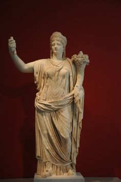 Livia (wife of Augustus the Great) deified as Fortuna (via pallas-athena)