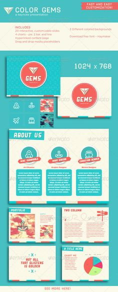 Presentation Templates - Color Gems Keynote Presentation | GraphicRiver, design, presentation, color pattern,