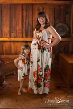 Mommy Baby Matching Summer Dress made From D10 Fabric Pattern