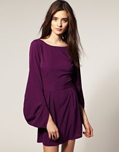 Vero Moda Envelope Sleeve Waisted Dress