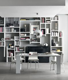 *minimal bookcases* - Crossing by Misura Emme.