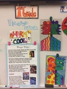 First grade Picasso portraits | Jamestown Elementary Art Blog | Bloglovin'