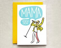 Funny Mother's Day Cards: Freddie Mercury Card by That Cool Sign Mothers Day Gifts From Daughter, Funny Mothers Day, Mothers Day Crafts, Mother Day Gifts, Happy Mothers Day, Birthday Cards For Mom, Mother Birthday Gifts, Queen Birthday, Freddie Mercury Mother