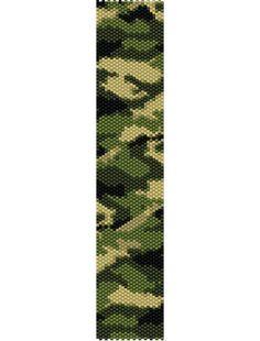 Camouflage Bracelet Peyote Pattern by BumbleyBeads on Etsy