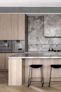 For those who require a high level of craftsmanship and quality appliances in their dream kitchen - Gaggenau is the only choice. Kitchen Room Design, Modern Kitchen Design, Home Decor Kitchen, Interior Design Kitchen, Home Kitchens, Contemporary Kitchen Designs, Modern Contemporary, Apartment Kitchen, Kitchen Ideas