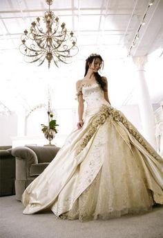 Princess wedding dress.
