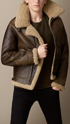 Dover Shearling Bomber Jacket - Leather &amp Suede Jackets
