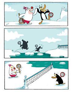 """Tavola trattao da """"Federico, Tenis sobre hielo"""" di Maxi Luchini. Pubblicato da Mamut Bang ediciones (2009)."""