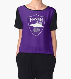 Haven Syfy Inspired | Haven Keep Calm White Logo Badge