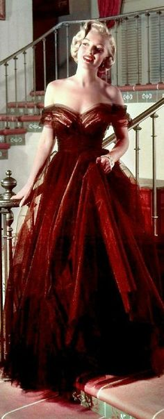 "In ""ball gown"""
