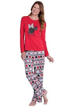 fb10cbe36a PajamaGram Fun Womens Christmas Pajamas - Disney Pajamas Women