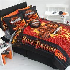 Very cool kids bedding kit! / Harley Davidson Flame Rider Fireball