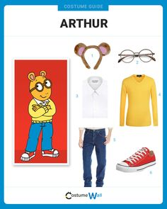 Visteete as Arthur- - Book character costumes for kids boys - Arthur Halloween Costume, Arthur Costume, Halloween Costume Contest, Costume Ideas, 90s Costume, Book Costumes, Teacher Costumes, Scary Costumes, Diy Costumes