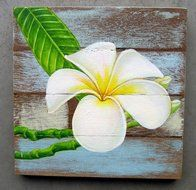 schilderij bloem Cool Paintings, Acrylic Paintings, Painting On Wood, Painting & Drawing, Mini Canvas, Paint Party, Painting Inspiration, Flower Art, Art Projects