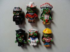 Zombie People  Refrigerator Magnets set  Full by YokaiJohn on Etsy