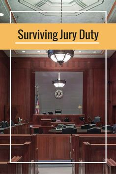 The day has finally come...Jury Duty! Sharing my tips and tricks for making the process as painless as possible.