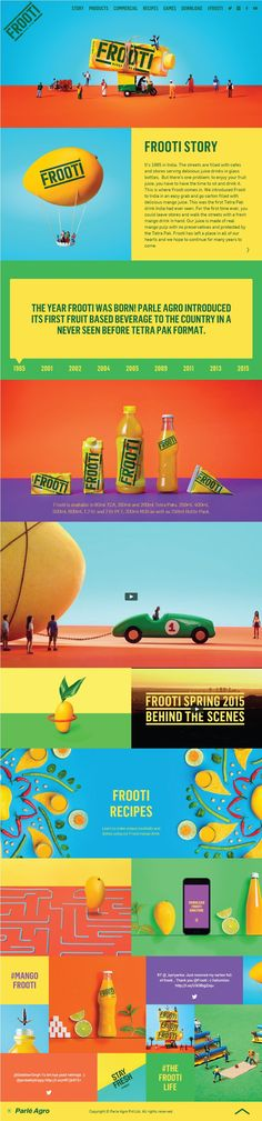 Frooti. A site that uses all the colors in a rainbow. (More design ispiration at www.aldenchong.com)