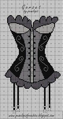 point de croix  corset guêpière - cross stitch corset