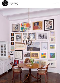 Gretchen says: Perfect wall. Lovely mix, great balance, signature, eclectic yet calm.