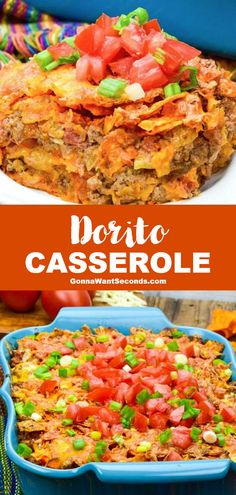 *NEW* Dive into a delicious, Dorito-studded casserole layered with a zesty beef filling – it has all the flavor of our favorite orange chips without all the hassle of orange finger-tips! #Doritos #Casserole #DoritoCasserole Pork Recipes For Dinner, Italian Dinner Recipes, Lunch Recipes, Breakfast Recipes, Doritos Casserole, Casserole Recipes, Quick Casseroles, Quick Meals, Cooking Recipes