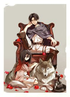 Levi + Mikasa | Attack on Titan #anime SNK