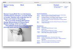 Online sketchbook and portfolio for developing designer Samson Leung. www.samsonleung.com