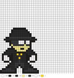 phantom stranger black DC Perler Bead Pattern
